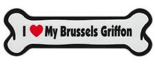 Dog Bone Shaped Car Magnets: I Love My Brussels Griffon