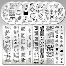 NICOLE DIARY Nail Stamp Stamping Plates Template Images Trendy Tip Design DIY