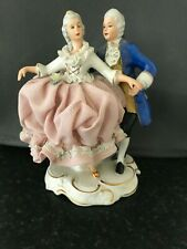 Dresden Lace Figurine - Couple Dancing