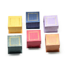 24x Magnetic Cardboard Jewelry Boxes Ring Square Mix Color Display Case Storage