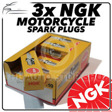 3x NGK Spark Plugs for TRIUMPH 1050cc Speed Triple (Incl. R) 05-> No3478