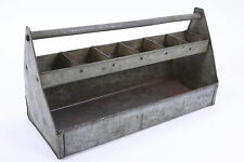 """Galvanized Steel Tool Caddy Toolbox Chest Garden Tote 20 1/4"""" by 8 1/4"""" by 11"""""""