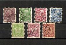AUSTRIA Osterreich 1908-1916, minicollezione 7v usati (pha069)