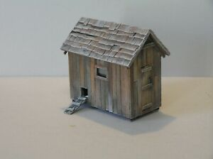 S Scale Hen House Scratch Built Sn3 Sn2 American Flyer Size 1:64 Weathered