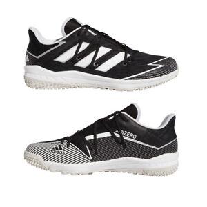 Adidas Black Baseball Turf Shoes Adizero Afterburner 7 Turf Trainers Black/White