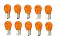 10 STÜCK PY21W 12V 21W BAU15s Glüh Lampe Birne amber orange Kfz PKW Blinker