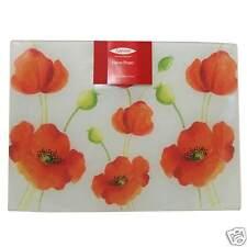 Rayware Alpine Poppy vetro piano protector saver taglio Tagliere flower