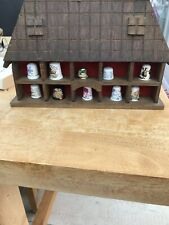 Decorative Thimble Collection in Novelty Display Case