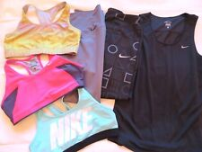 Women's Nike Athletic Workout Clothes Lot Pants Sports Bra Top Tank Shirt Large