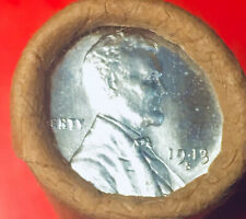 1943-S STEEL / BU TAILS WHEAT OBW ORIGINAL BANK WRAP LINCOLN WHEAT PENNY ROLL