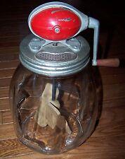 VINTAGE Dazey Butter Churn No. 8 Red Ball 8 Quart Glass Jar Wood Paddles