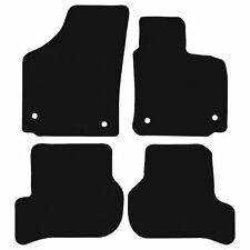 Seat Leon (2009-2013) 3mm Black Penny Plate Rubber Tailored Car Floor Mats.