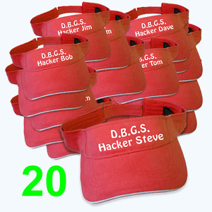 Best Impressions Personalised Golf Visors Cotton Different Colours Quantities