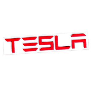 Red 3D TESLA Letters Car Rear Trunk Lid Emblem Nameplate for Tesla Model 3 S X Y