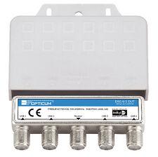 OPTICUM DiSEqC Schalter 4-1 Umschalter 4 Satelliten Wetterschutz Switch HDTV HD