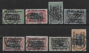 "Ruanda-Urundi - Postage Due - 1919 - COB TX1/8 - Handstamped ""TAXES"" - Used -"