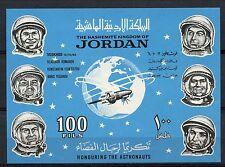 Jordan 1965 SG#MS637 Russian Cosmonauts Space MNH Optd M/S #A61115