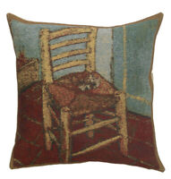 The Chair Belgian Tapestry Decorative  Cushion Cover