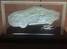 ACTION RACING COLLECTIBLES TONY STEWART ILLUMINATED ETCHED GLASS IN BOX!!!