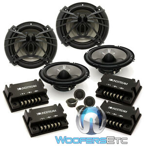"2 sets SOUNDSTREAM AC.6 CAR 6.5"" COMPONENT SPEAKERS MIDS CROSSOVERS TWEETERS NEW"