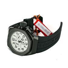 Swiss Legend 10542-BB-02 Trimix Diver Black White Chronograph Watch NEW in Box