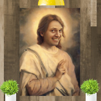 Rik Mayall Jesus Framed Canvas Print Wall Art Picture Ready To Hang