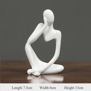 Thinker Statue Abstract Figure Sculpture Small Ornaments Resin Statue Home Craft