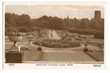 Postcard Mesnes Park and Grammar School Wigan Real Photo PM 1955  (A22)