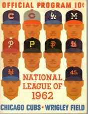 1962 (5/5) Baseball program San Francisco Giants @ Chicago Cubs, scored ~ Fair
