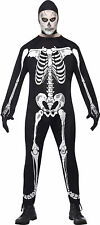 Smiffy's Adult men's Skeleton Costume, Smiffys Jumpsuit, Helloween sacary outfit