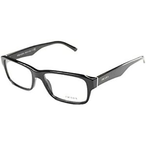 PRADA PR 16MV EYEGLASSES PR16MV 1AB101 BLACK 53/16/140 OPTICAL RX Prescription