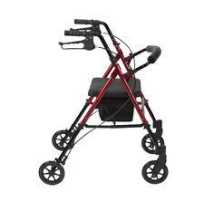 Movilidad liviana Walker 4 Ruedas Plegable Zimmer Marco Caminar Ayuda Para Caminar Andador