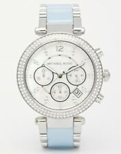 Michael Kors MK6138 Parker Stainless Steel Chambray Acetate MOP Dial Watch