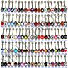 W100 Metal Tongue Rings Steel Bars Barbells Funny Nasty Wording Logo Lot of 30