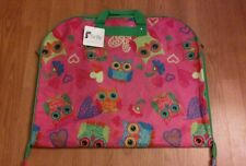Buckhead Betties Pink Multicolor Owls Zippered Garment Bag Green Interior