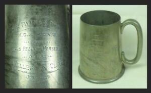 PEWTER TANKARD, WELLESLEY CLUB 1949: to SIR PATRICK DUFF KCB, KCVO Civil Servant
