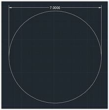 "1pc Acrylic Plastic (plexiglass)  Round  Sheet  - 3/16"" x 7""  Circle  -  Clear"