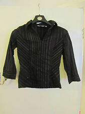 Black Red Yellow Stripe V Neck Next Stretch Blouse / Top in Size 14