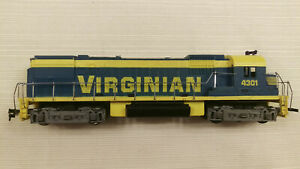Tyco HO Alco 430 diesel, VIRGINIAN #4301, Runs and pulls great.new rubber