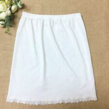 """Women Lady Black White Underskirt Petticoat Half Slips Waist Slip  23-39"""""""