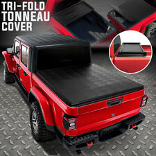 FOR 2020 JEEP GLADIATOR JT TRUCK BED ADJUSTABLE SOFT TOP TRI-FOLD TONNEAU COVER
