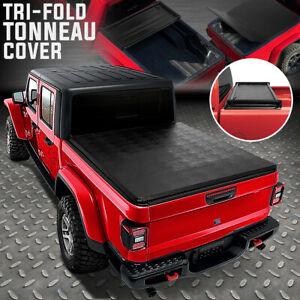 FOR 20-21 JEEP GLADIATOR JT TRUCK BED ADJUSTABLE SOFT TOP TRI-FOLD TONNEAU COVER