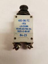 ETA 483-96-TC-K14-25A SINGLE POLE,MINIATURISED,AIRCRAFT STYLE THERMAL CIRCUIT BK