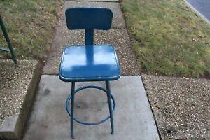 Vintage Industrial Metal Machine Shop Chair Stool #1 Royal Metal Corporation USA