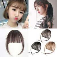 Thin Neat Air Bangs Synthetic Hair Clip in Fringe Front Hairpiece Lovely Natural