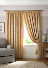 "90"" Wide x 108"" Drop PENCIL PLEAT TIVOLI Lined Pair Curtains LATTE PEACH  106-08"