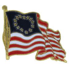Betsy Ross Waving Flag Pin Historical Bike Motorcycle Hat Cap lapel Pin