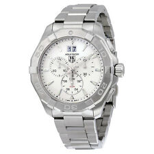 Tag Heuer Aquaracer Chronograph Silver Dial Mens Watch CAY1111.BA0927