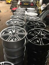 """YOURS for Ours HONDA CIVIC TYPE R EP3 4x17"""" GLOSS BLACK SILVER OEM ALLOY WHEELS"""