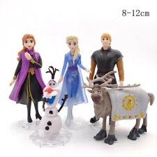 Disney Frozen Princess 2 Cake Toppers 5Pcs Figures Toys Elsa Olaf Anna